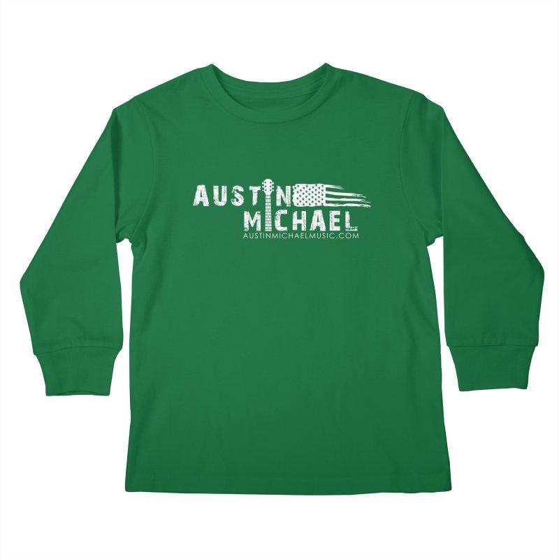 Austin Michael - USA  - for dark colors Kids Longsleeve T-Shirt by austinmichaelus's Artist Shop