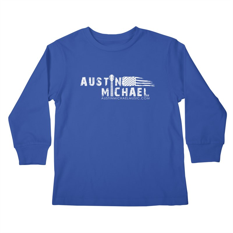 Austin Michael - USA  - for dark colors Kids Longsleeve T-Shirt by austinmichaelus's Artist Shop