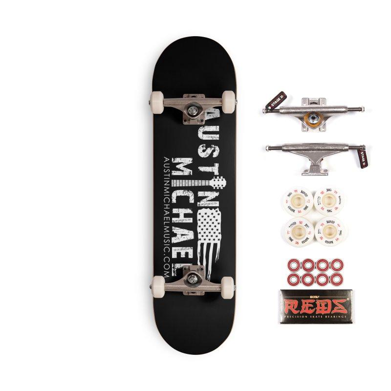 Austin Michael - USA  - for dark colors Accessories Complete - Pro Skateboard by austinmichaelus's Artist Shop