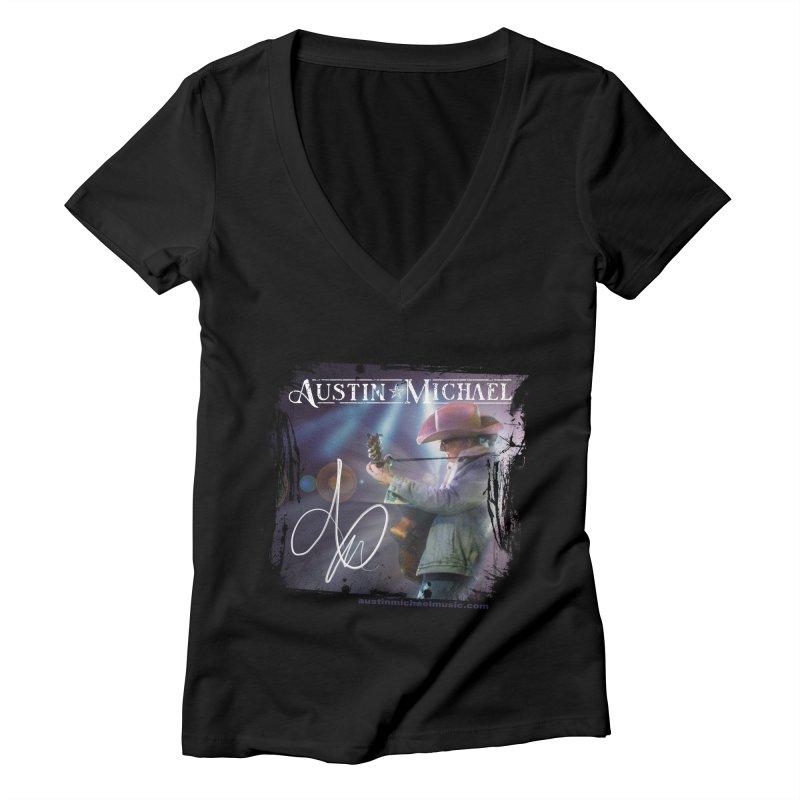 Austin Michael Concert Lights Women's V-Neck by austinmichaelus's Artist Shop