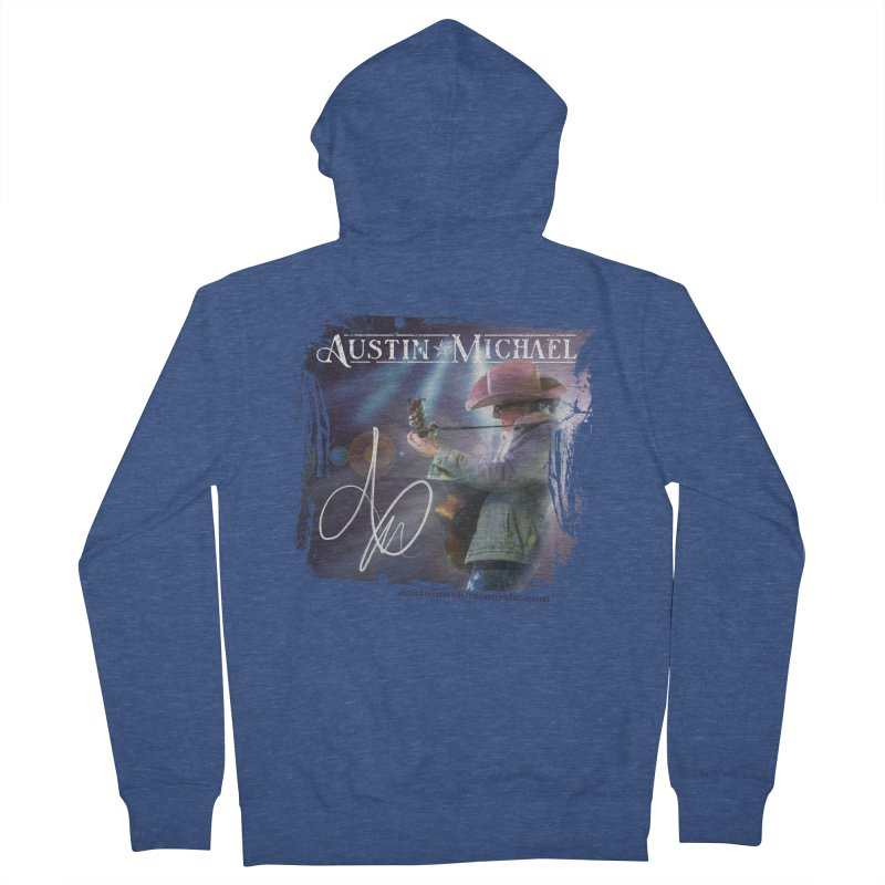 Austin Michael Concert Lights Men's French Terry Zip-Up Hoody by austinmichaelus's Artist Shop