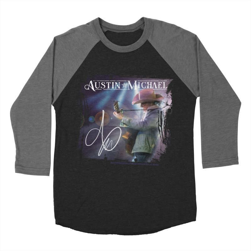 Austin Michael Concert Lights Men's Baseball Triblend Longsleeve T-Shirt by austinmichaelus's Artist Shop