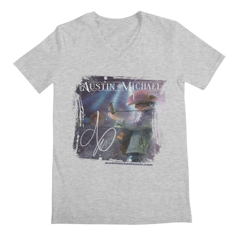 Austin Michael Concert Lights Men's Regular V-Neck by austinmichaelus's Artist Shop