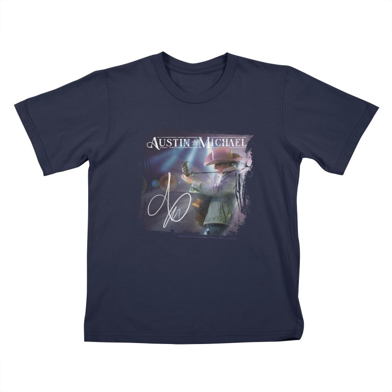 Austin Michael Concert Lights Kids T-Shirt by austinmichaelus's Artist Shop