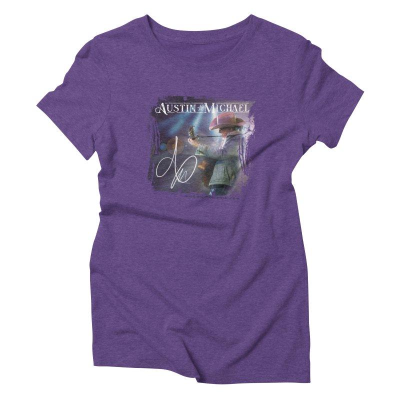 Austin Michael Concert Lights Women's Triblend T-Shirt by austinmichaelus's Artist Shop
