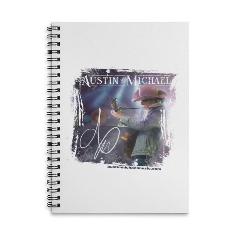 Austin Michael Concert Lights Accessories Lined Spiral Notebook by austinmichaelus's Artist Shop