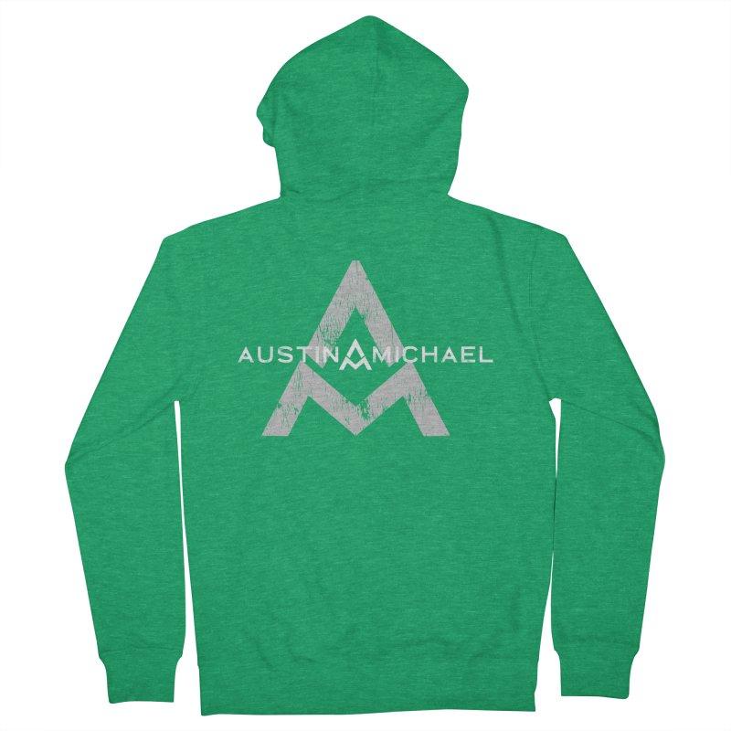 Austin Michael - New Logo Dark Colors Men's Zip-Up Hoody by austinmichaelus's Artist Shop