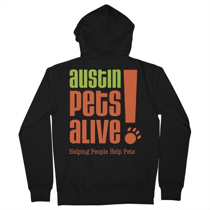 Austin Pets Alive! Men's Zip-Up Hoody by Austin Pets Alive's Artist Shop