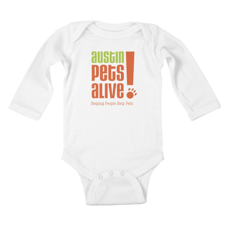 Austin Pets Alive! Kids Baby Longsleeve Bodysuit by Austin Pets Alive's Artist Shop