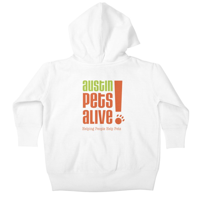 Austin Pets Alive! Kids Baby Zip-Up Hoody by Austin Pets Alive's Artist Shop