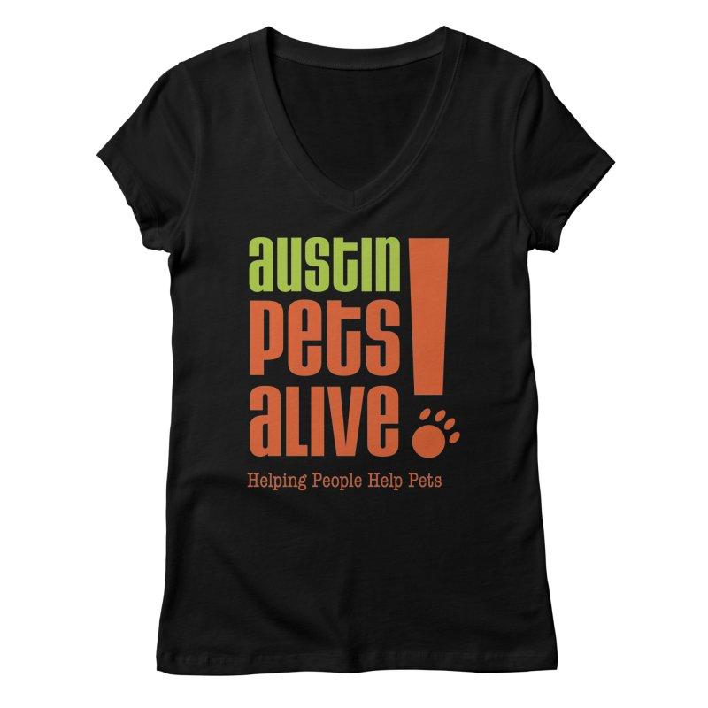Austin Pets Alive! Women's V-Neck by Austin Pets Alive's Artist Shop