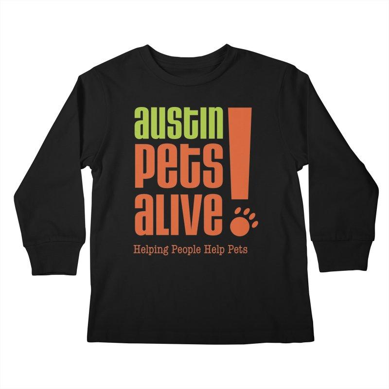 Austin Pets Alive! Kids Longsleeve T-Shirt by Austin Pets Alive's Artist Shop