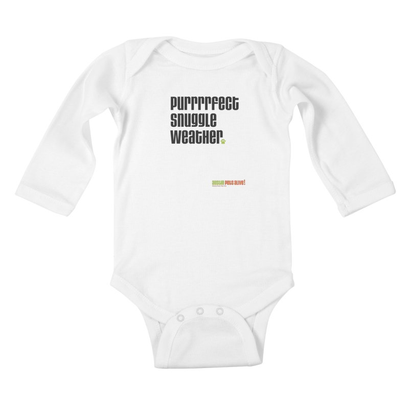 Purrrrfect Snuggle Weather Kids Baby Longsleeve Bodysuit by austinpetsalive's Artist Shop