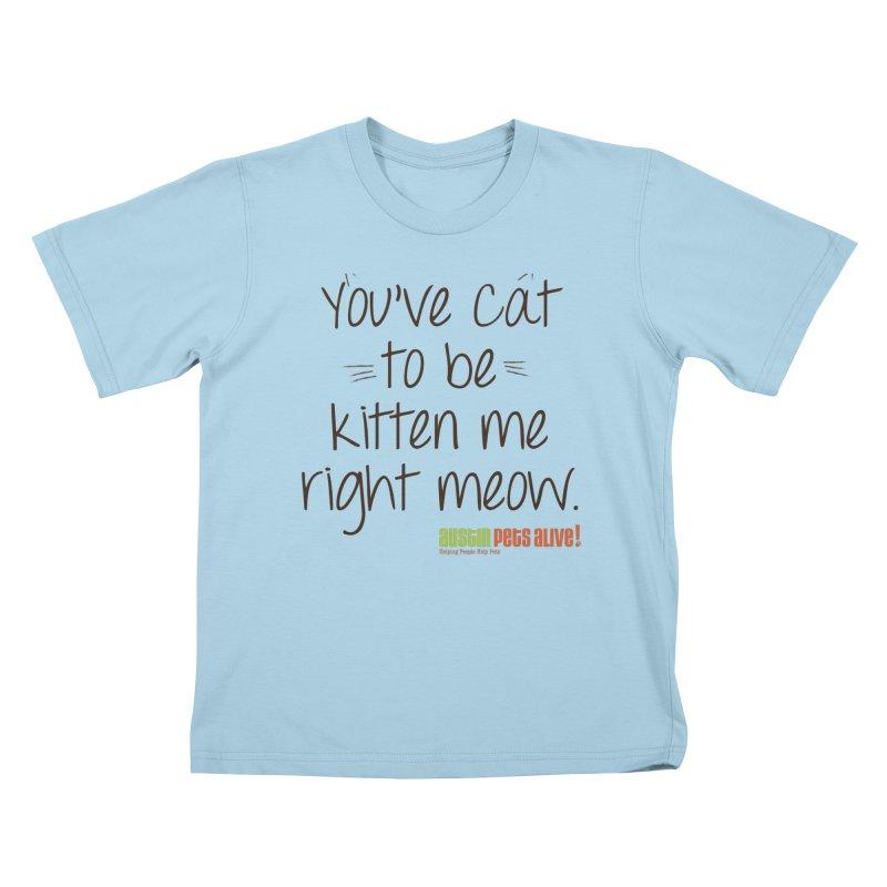 You've Cat to be Kitten Me Kids T-Shirt by austinpetsalive's Artist Shop