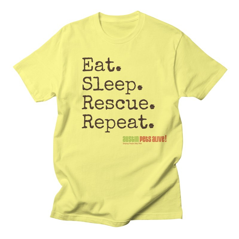 Eat. Sleep. Rescue. Repeat. Men's Lounge Pants by austinpetsalive's Artist Shop