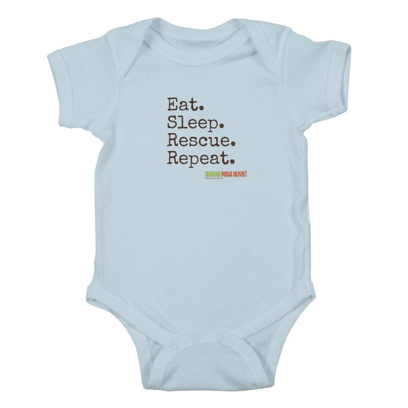 Eat. Sleep. Rescue. Repeat. Kids Baby Bodysuit by austinpetsalive's Artist Shop