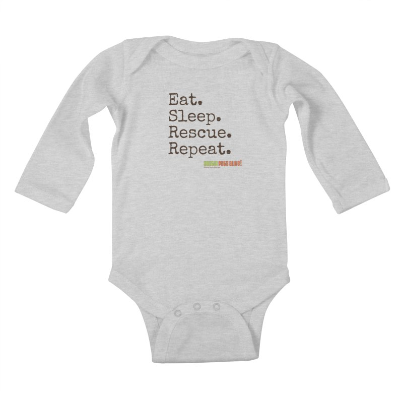 Eat. Sleep. Rescue. Repeat. Kids Baby Longsleeve Bodysuit by austinpetsalive's Artist Shop