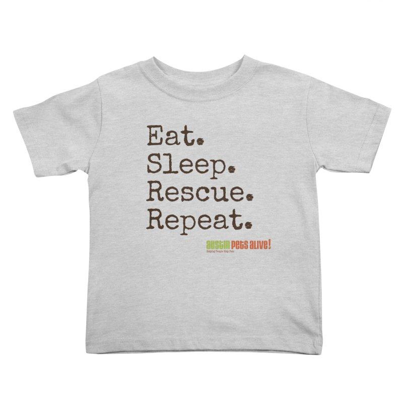 Eat. Sleep. Rescue. Repeat. Kids Toddler T-Shirt by austinpetsalive's Artist Shop