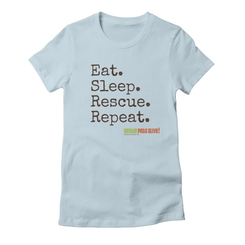 Eat. Sleep. Rescue. Repeat. Women's French Terry Zip-Up Hoody by austinpetsalive's Artist Shop