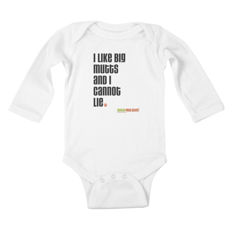 I Like Big Mutts Kids Baby Longsleeve Bodysuit by austinpetsalive's Artist Shop
