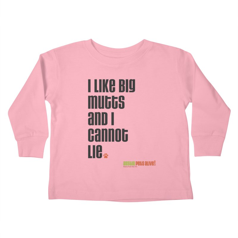 I Like Big Mutts Kids Toddler Longsleeve T-Shirt by Austin Pets Alive's Artist Shop
