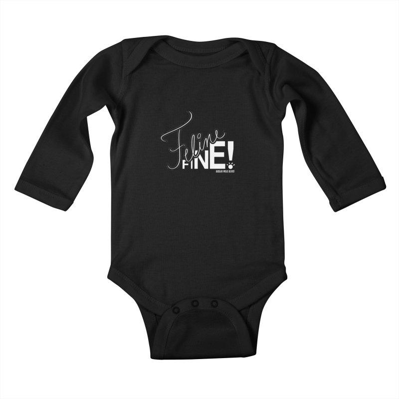 Feline Fine! Kids Baby Longsleeve Bodysuit by Austin Pets Alive's Artist Shop