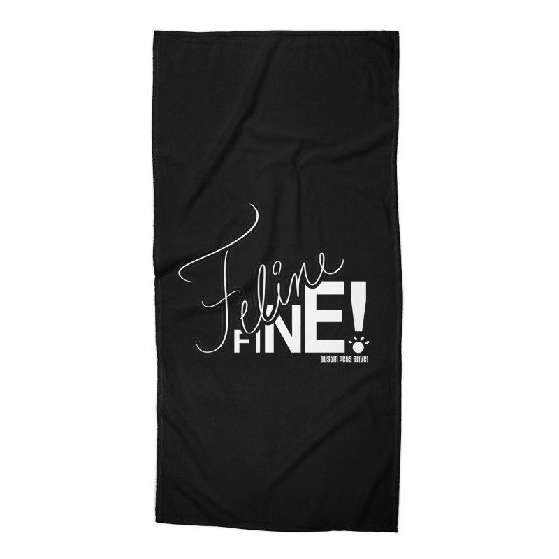 Feline Fine! Accessories Beach Towel by Austin Pets Alive's Artist Shop