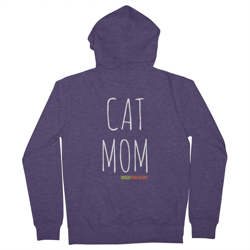 Cat Mom Men's French Terry Zip-Up Hoody by austinpetsalive's Artist Shop