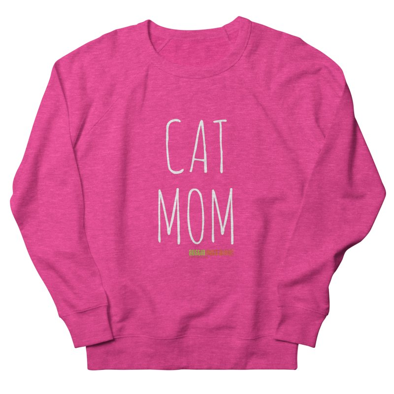 Cat Mom Men's French Terry Sweatshirt by austinpetsalive's Artist Shop