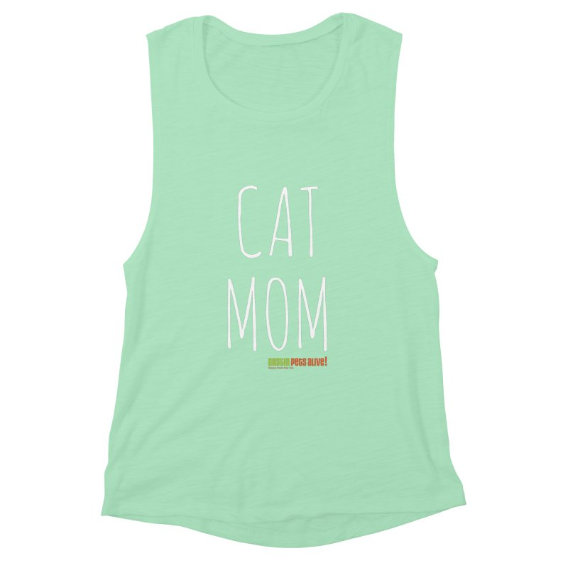 Cat Mom Women's Muscle Tank by Austin Pets Alive's Artist Shop