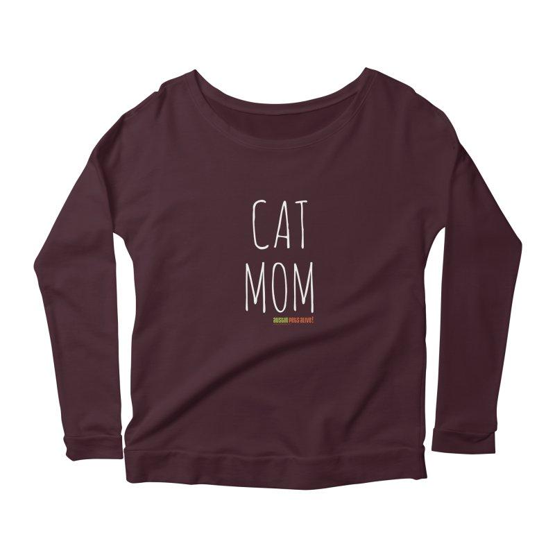 Cat Mom Women's Scoop Neck Longsleeve T-Shirt by austinpetsalive's Artist Shop