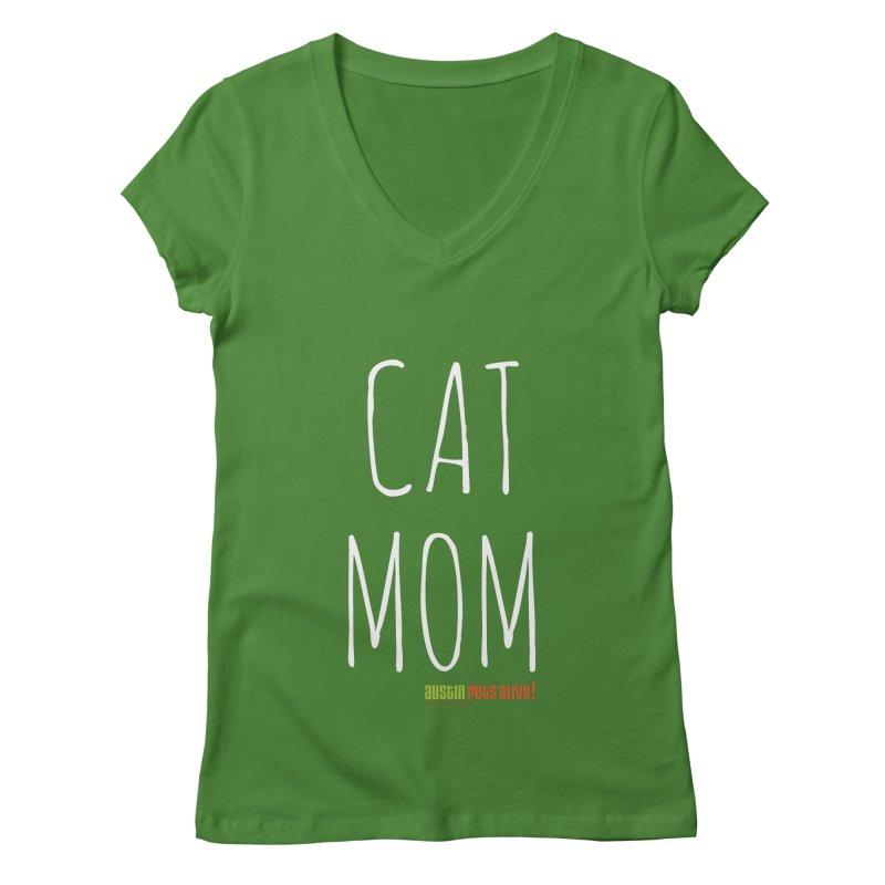 Cat Mom Women's V-Neck by austinpetsalive's Artist Shop
