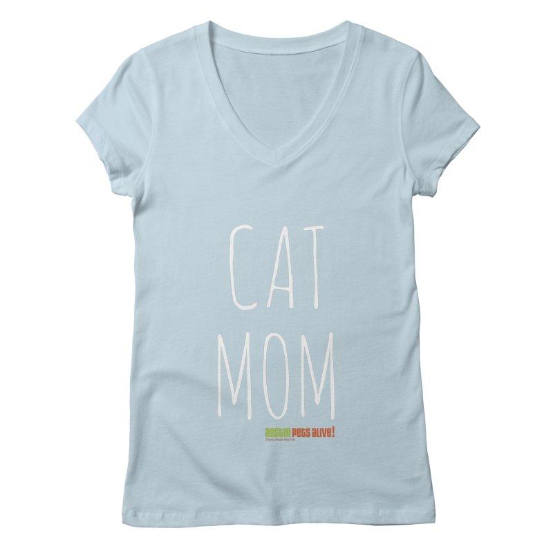 Cat Mom Women's Regular V-Neck by austinpetsalive's Artist Shop