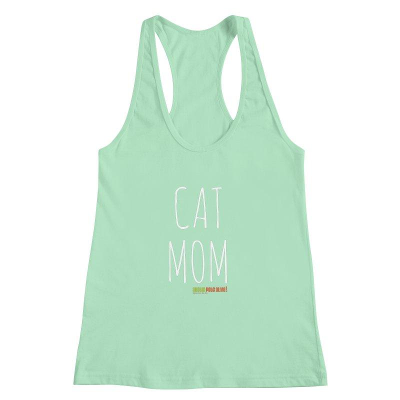 Cat Mom Women's Racerback Tank by austinpetsalive's Artist Shop