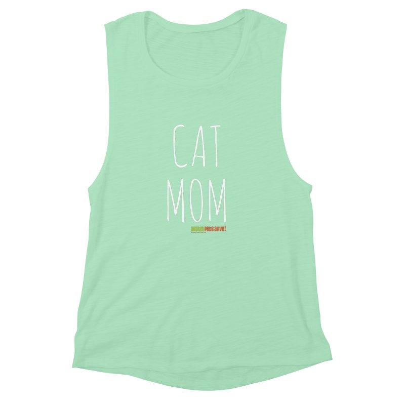 Cat Mom Women's Muscle Tank by austinpetsalive's Artist Shop