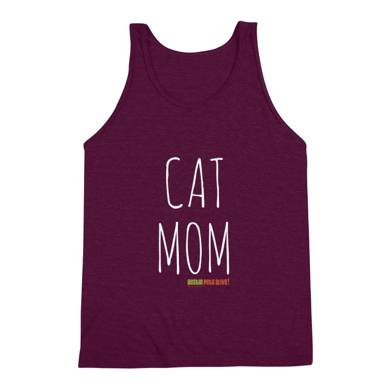 Cat Mom Men's Triblend Tank by austinpetsalive's Artist Shop
