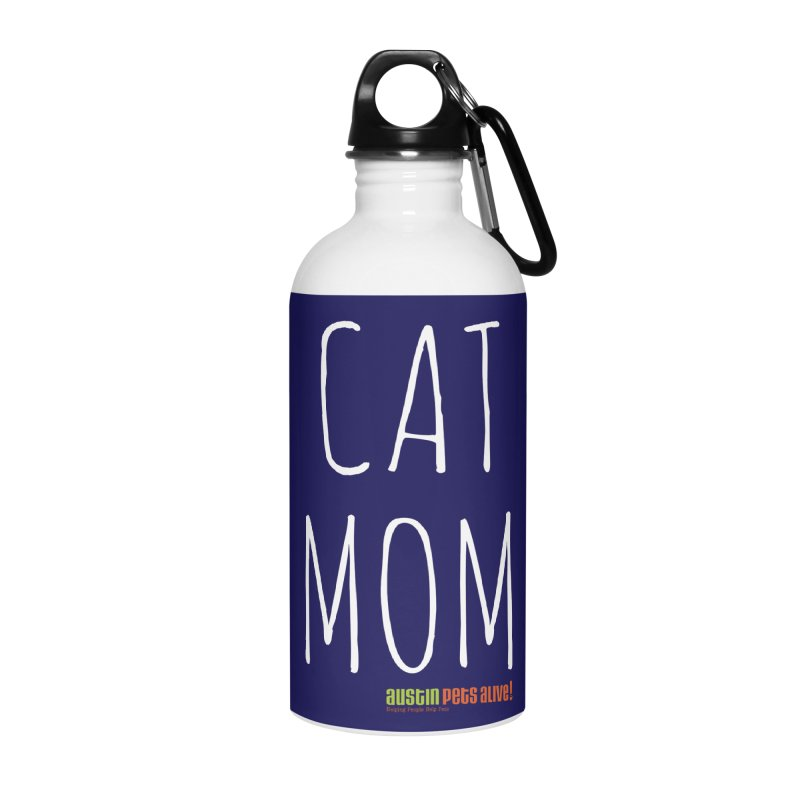 Cat Mom Accessories Water Bottle by austinpetsalive's Artist Shop