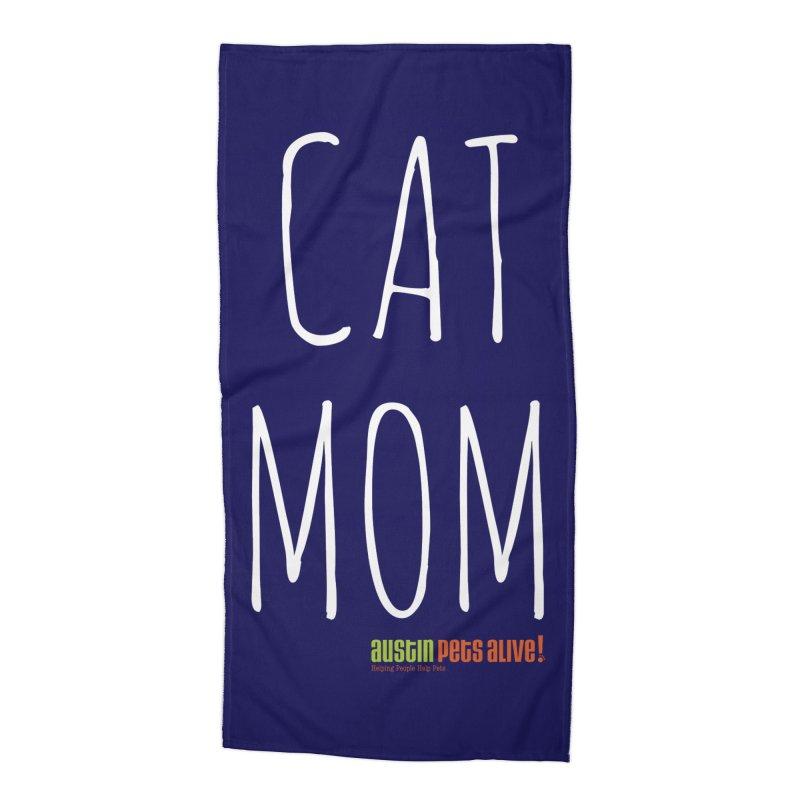 Cat Mom Accessories Beach Towel by austinpetsalive's Artist Shop