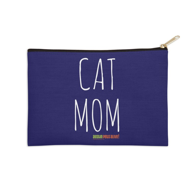 Cat Mom Accessories Zip Pouch by austinpetsalive's Artist Shop