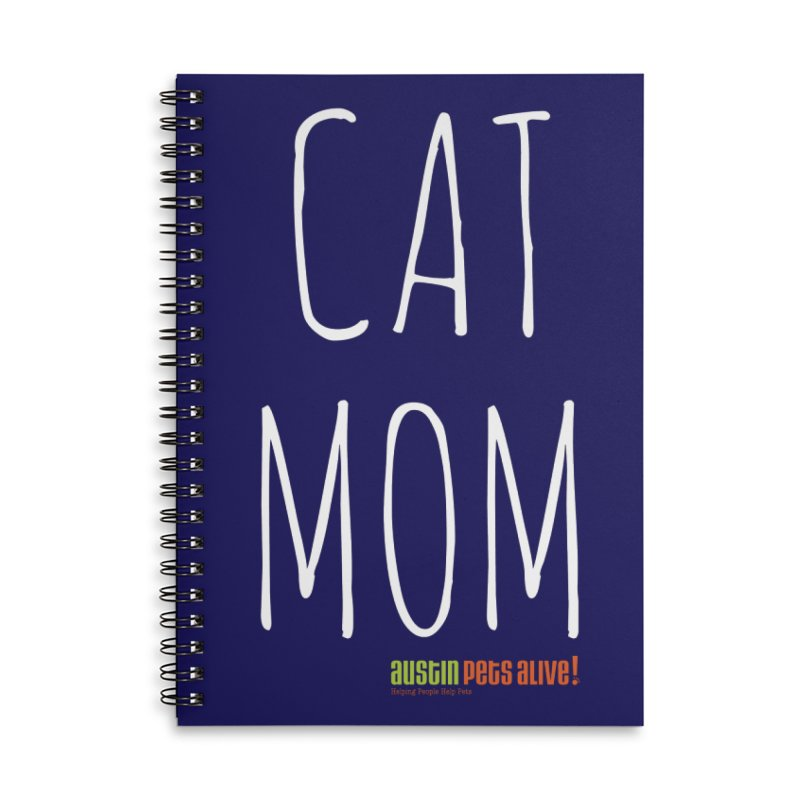 Cat Mom Accessories Lined Spiral Notebook by Austin Pets Alive's Artist Shop