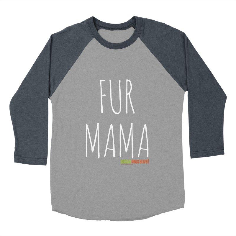 Fur Mama Women's Baseball Triblend Longsleeve T-Shirt by austinpetsalive's Artist Shop