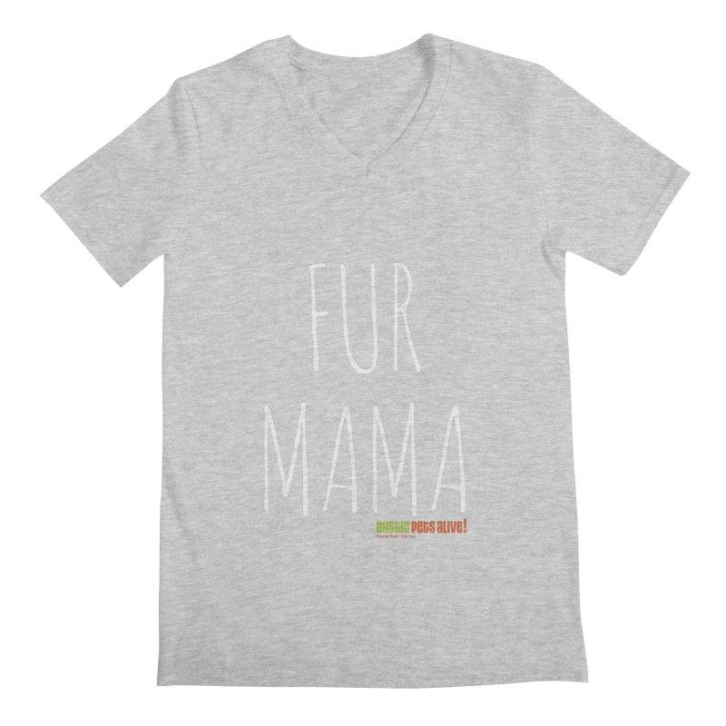Fur Mama Men's Regular V-Neck by austinpetsalive's Artist Shop