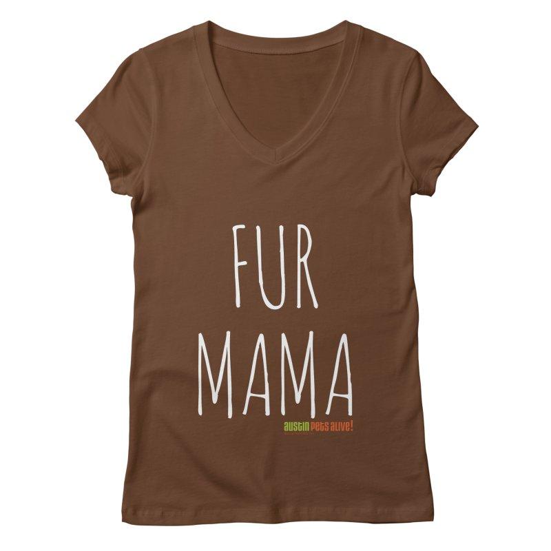 Fur Mama Women's V-Neck by austinpetsalive's Artist Shop