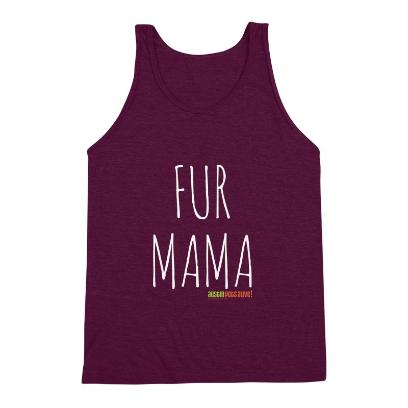 Fur Mama Men's Triblend Tank by austinpetsalive's Artist Shop