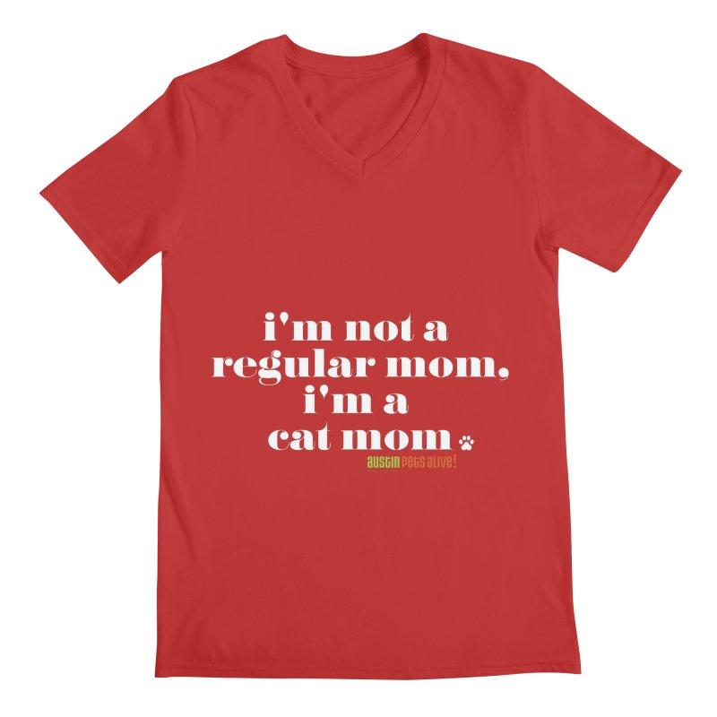 I'm a Cat Mom Men's Regular V-Neck by austinpetsalive's Artist Shop