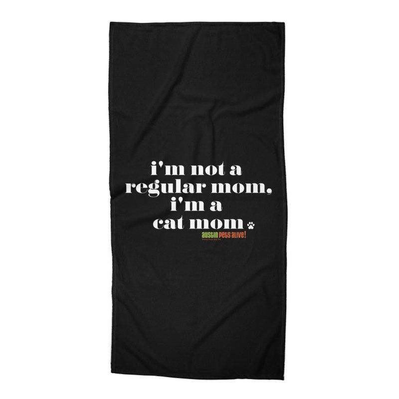 I'm a Cat Mom Accessories Beach Towel by austinpetsalive's Artist Shop