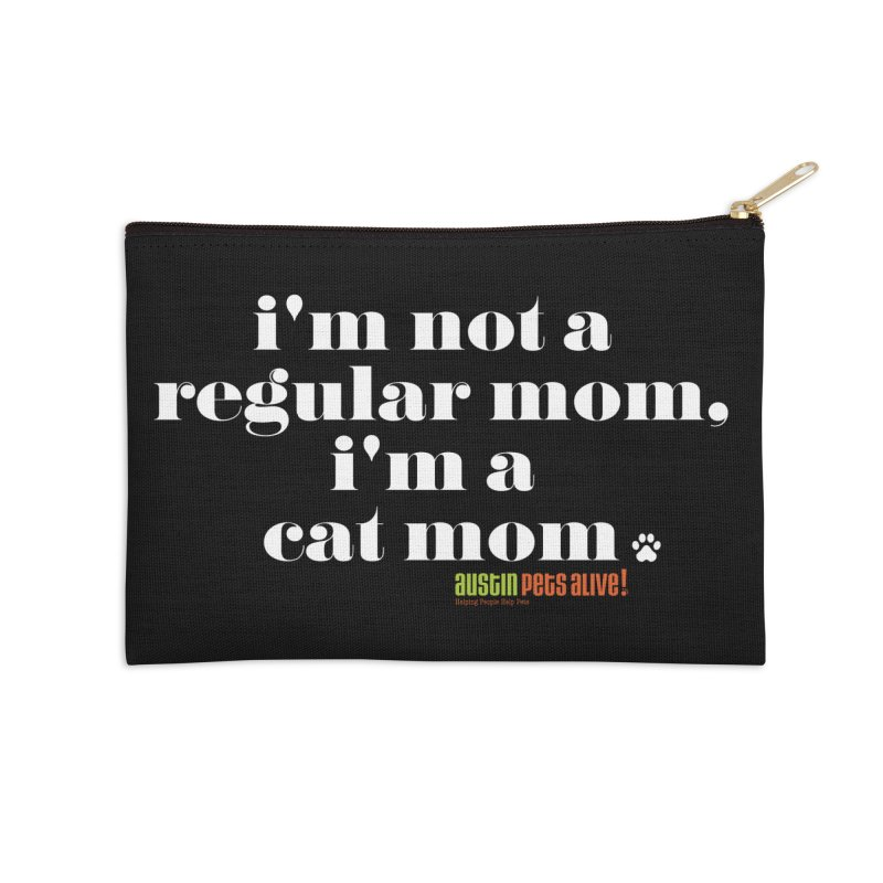 I'm a Cat Mom Accessories Zip Pouch by austinpetsalive's Artist Shop