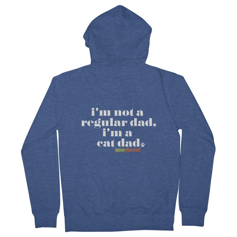 I'm a Cat Dad Men's French Terry Zip-Up Hoody by Austin Pets Alive's Artist Shop