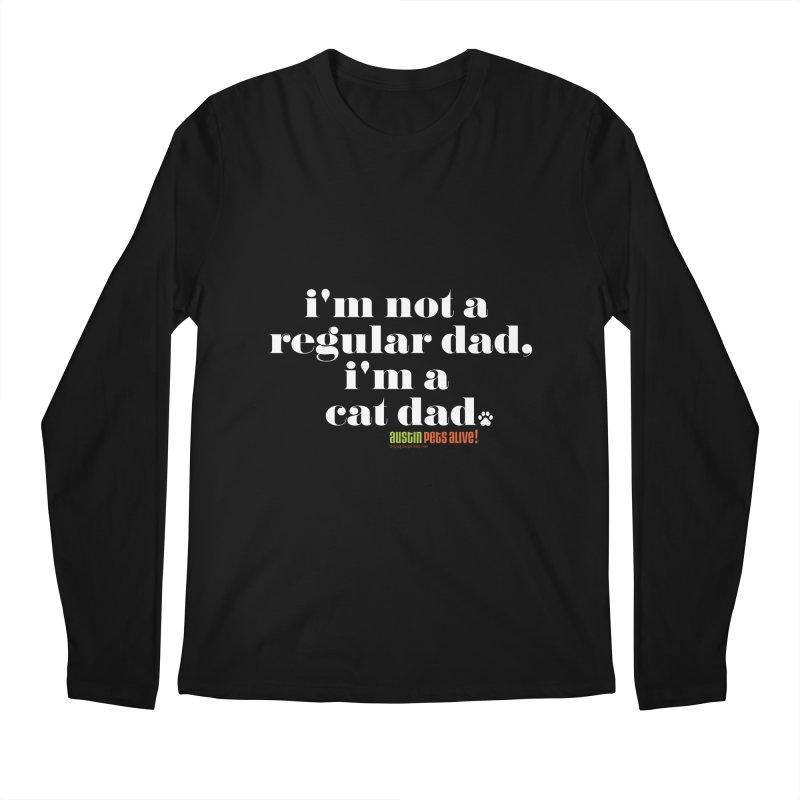 I'm a Cat Dad Men's Regular Longsleeve T-Shirt by Austin Pets Alive's Artist Shop