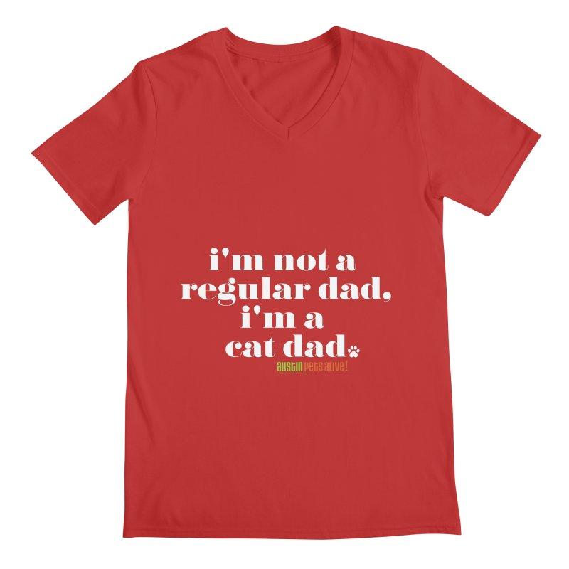 I'm a Cat Dad Men's Regular V-Neck by Austin Pets Alive's Artist Shop